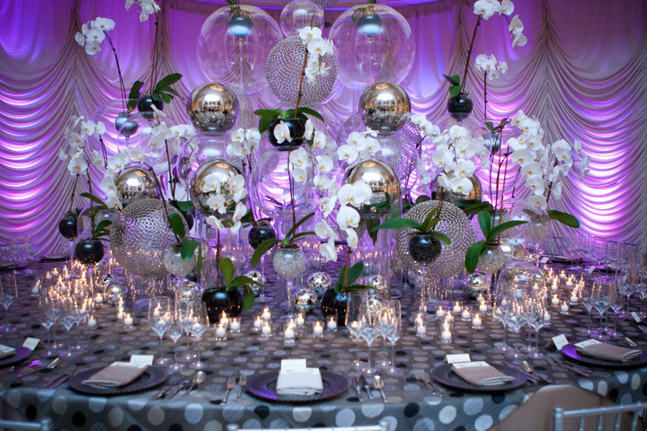 Glass Orb Centerpiece